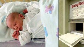 Ve vyškovském babyboxu našli malého Vláďu: Novorozenec ležel nahý jen v dečce