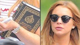 Stane se Lindsay Lohan muslimkou? Známá průšvihářka brání korán