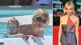 Herečka Sienna Miller vCannes: Přes den máma, večer dáma