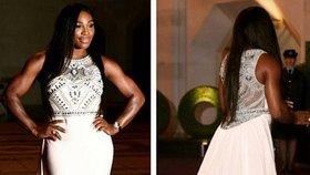 Serena Williams na večeři šampionů v šatech ukázala hlavně ramena!