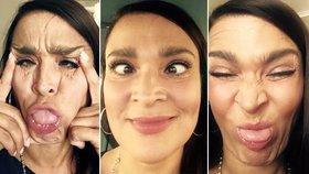 Všechny tváře Mahuleny Bočanové: Herečka předvedla neuvěřitelnou obličejovou gymnastiku