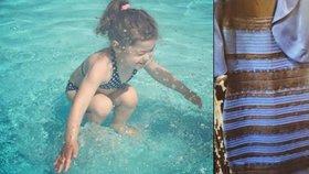 Po zlatých šatech další záhadná fotka: Skáče dítě do vody, nebo už v ní je?