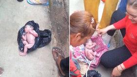 Novorozence našli na Filipínách v igelitovém pytli: Měl ještě placentu!