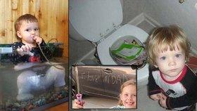 Co dělají děti, když se nedíváte? Zoufalí rodiče na internetu sdílí fotky dětských rošťáren