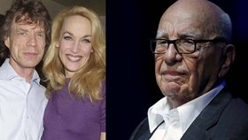 Jaggerova bývalá manželka Jerry Hall: Nabrnkla si miliardáře Murdocha