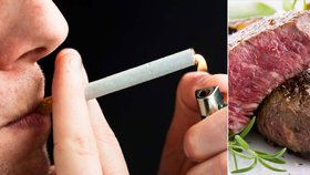 Steak, nebo cigarety? Riziko rakoviny je stejné! Světová zdravotnická organizace zveřejnila šokující zprávu