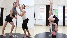 Sokol s Mádlem se kroutili u tyče: Sexy pózy jako striptérky!