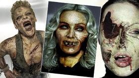 Nesmrtelné celebrity na Halloween: Jak by slavní vypadali jako zombie?