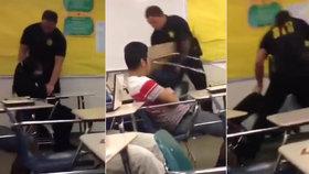 """Hubatá dívka bezmocně kopala nohama. Policista s žačkou surově """"vytřel zem"""""""