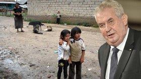 Zeman žene romské děti do povinné školky. Aby se naučily česky