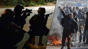 """Uprchlíci v Calais kamenují policisty. """"Do Džungle!"""" křičí na ně strážníci"""