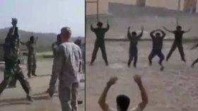 Irácká policie neumí skákat, video mapuje hopsací selhání rekrutů