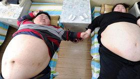 Žrouti z Číny se vyjedli na 394 kilo! Jsou tak tlustí, že nemůžou mít sex