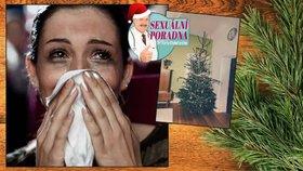 Vánoční sexuální poradna: Po sexu pod stromečkem mám ve vagině jehličí