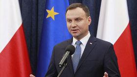 Polský prezident Duda nedbá kritiky z EU. Sporné zákony o justici podepíše