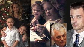 Zatímco Marešovi umíral táta, Monika byla s dětmi pryč. Společné Vánoce si ale užili…