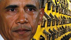 Nejmocnější muž světa v slzách. Obama vytáhl do boje proti zbraním