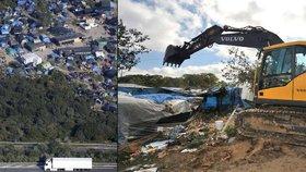Francouzi vyslali buldozery na uprchlický tábor! Migranti se ale stěhovat nechtějí