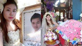 Láska až za hrob! Thajka vystrojila svatbu mrtvému snoubenci