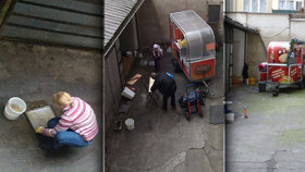 Zákulisí stánků z pěší zóny na Andělu: Po tomhle vás přejde chuť! Nádobí myjí u kanálu!