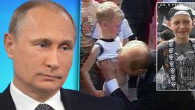 Chtěl jsem si ho pohladit jako koťátko, prohlásil Putin o líbání chlapce