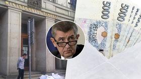 Babišovu resortu poslal anonym desítky tisíc, ministerstvo po něm pátrá