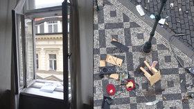 Hysterka v Praze vyhazovala věci z okna ve 3. patře: Skončila na psychiatrii