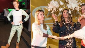 Adela Banášová udává trendy: Na křest dorazila v pyžamu a huculích!