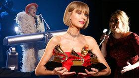 Taylor Swift má Grammy za album 1989. Lidé zuří kvůli vystoupení Adele