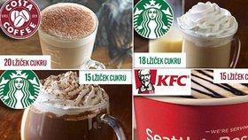 Sladký zabiják v kelímku: Řetězce cpou do kafe až 25 kostek cukru!