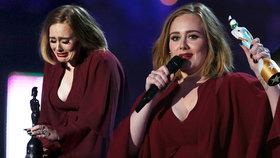 Adele ovládla britské hudební ceny: Zpěvačka se rozplakala na jevišti
