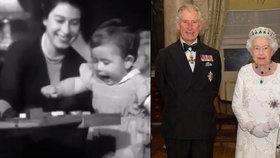 Unikátní video královské rodiny: Královna Alžběta si hraje s ročním Charlesem