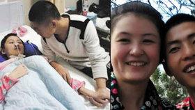 Muž se staral 8 měsíců o přítelkyni v kómatu. Když se probudila, řekla, že on ji do něj dostal
