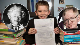 Mladý génius (11) z Anglie v IQ testu trumfnul Einsteina a Hawkinga! Chce však být fotbalistou