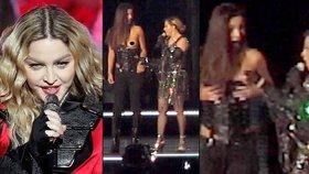 Madonna na koncertě svlékla fanynku (17)! Narvané hale ukázala prsa nezletilé dívky