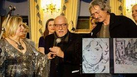Dojemné setkání: Paulo Coelho našel českého malíře, který ho kreslil v roce 1982