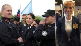 Židovskou hvězdou proti extremistům: Slovenští poslanci se postavili Kotlebovi