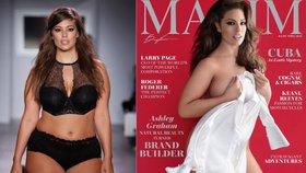Ashley Graham na obálce Maximu! Vyretušovali její plus size křivky?