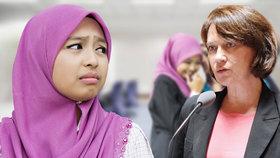 Ministryně pro práva žen přirovnala muslimky k černým otrokům, odvolají ji?
