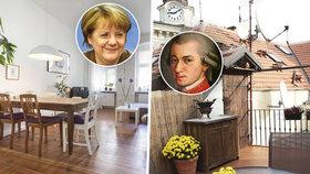 Chcete bydlet jako Mozart nebo Angela Merkelová? Jejich byty si můžete pronajmout!