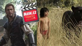 Čtvrteční filmové premiéry: Děti se můžou těšit na Mauglího nebo Lovce a zlou královnu