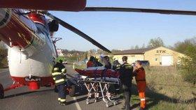 Dítě v Děčíně vypadlo z 11. patra! Na místě zasahoval vrtulník