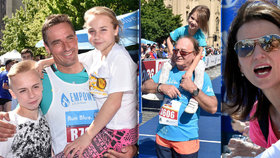 Slavní běželi pražský maraton: Kdo měl s sebou děti a kdo divoce fandil?