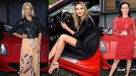 Přehlídka krásy v půjčovně luxusních aut: Kynychová, Parmová a Leová ukázaly sexy stehýnka