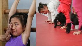Pláč a vyčerpání: Takto se šestileté holčičky připravují v Číně na olympiádu