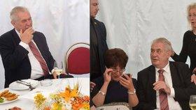 Zeman na Žofíně: Varování před uprchlíky, cigárko i vášnivá fanynka