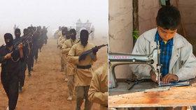 Děti za almužnu otročí 12 hodin denně. Šijí uniformy pro Islámský stát