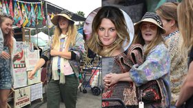 Drew Barrymore (41) k nepoznání: Slavná herečka vyrazila na blešák bez make-upu a ve vytahaném oblečení