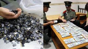 Pašeračka roku: Číňanka skrývala ve vagině 3000 paměťových kartiček!