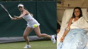 Otrávil někdo mladou tenistku? Z Wimbledonu putovala přímo na JIP